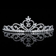 Sweet 16 Pageant Heart Birthday Party Rhinestones Crystal Crown Tiara 5562