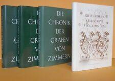 Württemberg Adel Mittelalter Grafen von Zimmern Chronik Genealogie 4 Bände 1967