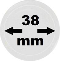 50 x Leuchtturm 327110 Münzkapseln Münzenkapseln coin capsules 38 mm Caps 38