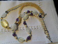 Set of two mixed stones necklaces