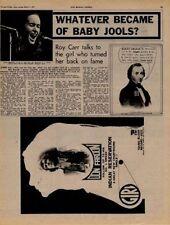 Julie Driscoll UK Interview + H Mandel LP advert '71
