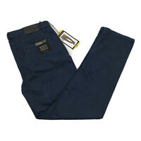 Tahari Men's Casual Pants Classic Fit 5 Pocket Relaxed Hip Straight Fit Blue