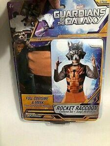 Guardians of The Galaxy Rocket Raccoon Costume & Mask Fit Sz 8 - 10 Dress Up NIP