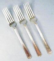 3 Anniversary Silverplate Dinner Forks Fork 1847 Rogers Bros International