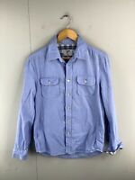 Stray Men's Long Sleeve Button Up Shirt Size S Blue