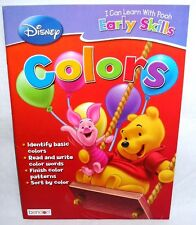 Disney Pooh Early Skills Workbook Colors Homeschool Daycare New