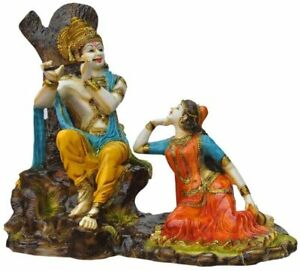 Lord Radhe Krishna Idol, Multicolour