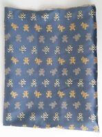 Wonderful Plaid Teddy Bears True VIntage 1930s-40s Novelty Satin Jacquard Fabric