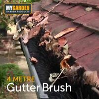 4m Gutter Guard Brush Leaf Protection Filter Clog Removal Down-Pipe Roof Black