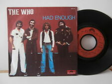 "The Who""had enough""single7""or.fr.polydor:2121361.de 1978."