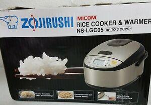 Zojirushi 3 Cups Micom Rice Cooker & Warmer, OPEN BOX