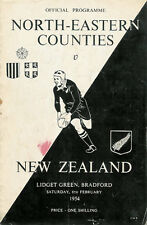 North-Eastern Counties v New Zealand RUGBY PROGRAMME 6 Feb 1954, Bradford