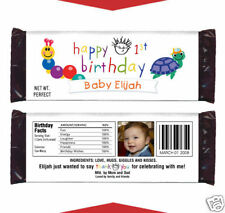 12 Baby Einstein Birthday Shower Party Favors Personalized Candy Wrappers
