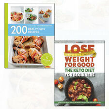 Keto Diet for Beginners and 200 Really Easy Recipes 2 Books Collection Set NEW