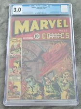 Marvel Mystery Comics 13 - 1940 Timely 1st VISION New Sub-Mariner CGC 3.0 RARE