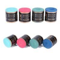 4 Colors - Billiard Chalks Pool Cue Stick Chalk Snooker Billiard Accessories Tip