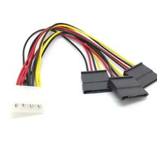 4 pin IDE Molex to 3 Serial ATA SATA Power  Splitter  Cable connectors oly