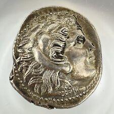 More details for greek greece macedon hercules zeus tetradrachm 336-323bc alexander iii the great