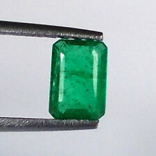 1.04ct NATURAL EMERALD OCTAGON CUT TOP GREEN GOOD LUSTER EXCLUSIVE COLLECTION