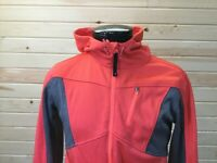 Mondetta Athletic Full Zip Jacket Shirt Womens XL Orange Gray Cowl Neck