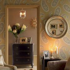 New Laura Ashley wallpaper Emperor Paisley Gold Interior design high quality