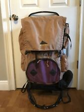 "Kelty Black External Frame Backpack L/XL 38""H x20""W Tioga Camping Hiking Pack"