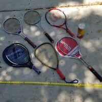 Tennis Racquet Racket Lot Wilson Aluminum Metal Frame Kennex Spalding Vintage