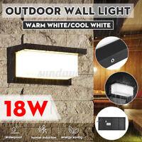 18W LED Außenleuchte Bewegungsmelder Lampe Anthrazit Wandbeleuchtung Sensor