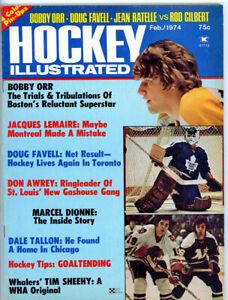 1 - Hockey Illustrated FEb 1964 Bobby Orr - Boston Bruins Full insert  Full Mag