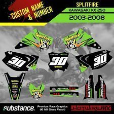 KAWASAKI 250 KX 2003-2008 - MOTOCROSS GRAPHICS KIT DECAL STICKERS- SPLITFIRE