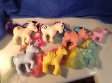 7 Vintage 1980s Hasbro My Little Pony Horses Vinyl Toys - LOT