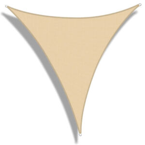 WJCWHH Triangle Sun Shade Sail Canopy, Water Permeable & UV Resistant