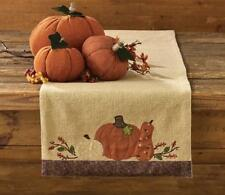 "COUNTRY PUMPKIN HARVEST FALL TABLE RUNNER 13"" x 36"" BY PARK DESIGNS"