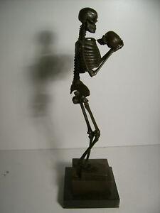 Bronze,Skelett,Figur,Dekoration,Geschenkidee,Requisite,Totenkopf