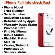 INSTANT FAST iPhone iPad IMEI CHECK NETWORK CARRIER MODEL ICLOUD BLACKLIST