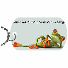 Sexy Frog  Metal Necklace Pendant Dog Tag