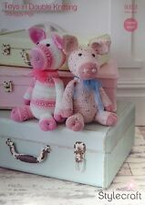 Stylecraft DK Toy Knitting pattern squiggly pigs piggy hat 9353
