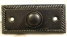 "doorbell button burnished antique brass beveled black 2-7/8"" x 1-5/16"" Taiwan"