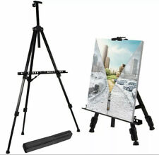 "T-Sign 66"" Reinforced Artist Easel Stand, Extra Thick Aluminum Metal Tripod"