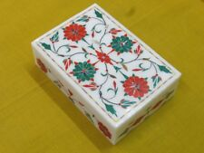 "6"" x 4"" x 1.5"" Marble Box Semi Precious Stone Cranelian Malachite For Gift"