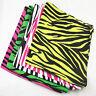 Women Men's Cotton Zebra Print Stripe Bandana Headwrap Colorful Dot Hiphop Scarf