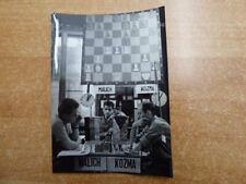 Originales Pressephoto Partie Burkhard Malich gegen Kozma Asztalos Memorial 1964