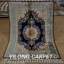 Yilong 3.5'x5' Persian Handmade Silk Rug Classic Carpet Tabriz Hand Knotted 1764