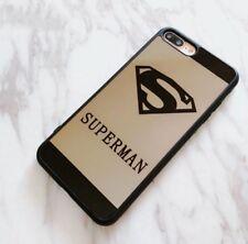 Cute Superman HD mirror case compatible with iPhone 7 Plus / 8 Plus - Black