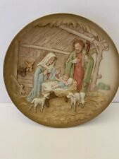 Homco Nativity Plate Made In Taiwan Vintage Christmas