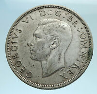 1941 Great Britain United Kingdom UK GEORGE VI Silver Half Crown Coin i77679