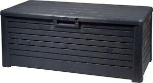 Gartentruhe 550 Kissenbox Auflagenbox Gartenbox Aufbewahrungsbox Kunststoff Grau