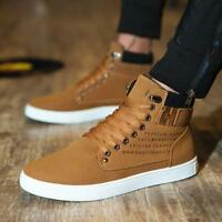 Fashion Men Oxfords Casual High Top Shoes Leather Sneakers Hot sale board shoes