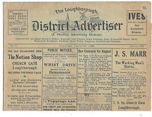 LOUGHBOROUGH District Advertiser Newspaper 1937