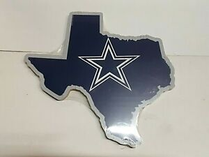 """Dallas Cowboys NFL Wooden State Shaped Sign 13"""" x 14"""""""